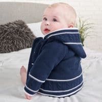 A1570 Navy knitted Baby Jacket